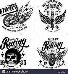 Malvorlagen Wings Happy Wheels Set Of Racer Emblem Templates With Motorcycle Motor