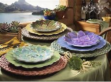 Succulent Garden Melamine Dinnerware Collection