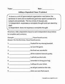 englishlinx com clauses worksheets