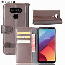 genuine case for lg g6 cover with card slot holder stand wallet flip cover for lg g6
