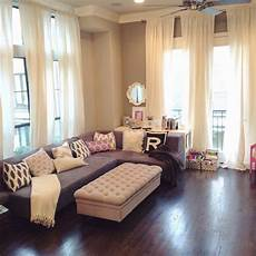 ikea s ritva curtains in our open concept living room veronika s blushing