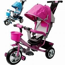Tricycle Bike 3 Wheel Pink Children Ride Handle Baby