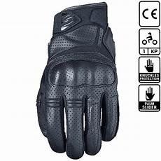 gants moto été homologué gants five rs2 black gant moto 233 t 233 cuir noir homologu 233 ce