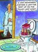 I Left The Seat Up On Toilet  Cartoon Jokes Funny