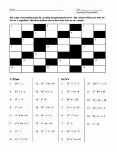 13 best images of algebra 1 factoring puzzle worksheets factoring trinomials worksheet