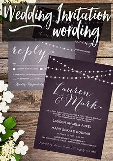Wedding Invitation Wording From