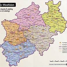 plz karte nrw nordrhein westfalen postleitzahlenkarte 5 stellig plz 5