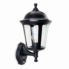 boston polycarbonate outdoor wall lantern in black with