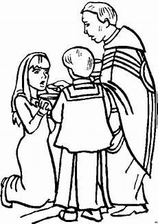 Kommunion Ausmalbilder Malvorlagen Erstkommunion Eines Maedchen Ausmalbild Malvorlage