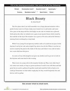 punctuation correction worksheets 4th grade 20950 punctuation black punctuation reading worksheets grammar skills