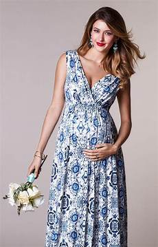 maternity gown porcelain blue maternity