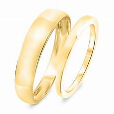 traditional wedding band 10k yellow gold my trio