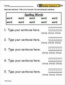 spelling worksheets create your own 22510 spelling packet template create your own spelling worksheets by katherine g