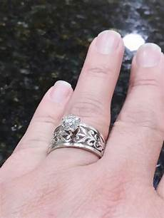engagement rings avery redid my wedding ring had my put on a