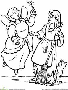 fairytale themed coloring pages 14942 cinderella coloring page tales and nursery rhymes cinderella coloring pages