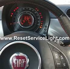 reset change light indicator fiat 500 reset service