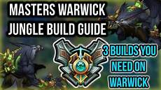 3 Builds You Need For Warwick Jungle Build Guide Items