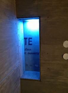 adding led lighting to your kerdi shower niche
