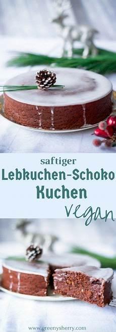 saftiger lebkuchen schokoladen kuchen vegane weihnachten