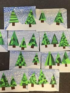 trees winter crafts