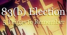 5 things to remember as you file your section 83 b election