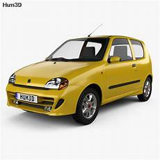 Fiat Seicento Sporting Abarth 1998 3d Model Vehicles On