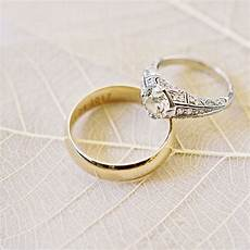 how to choose a mixed metal engagement ring and wedding band pairing martha stewart weddings