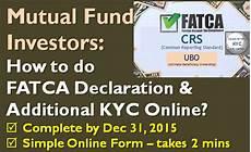 fatca declaration and additional kyc online