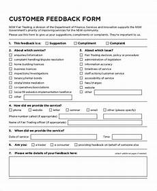 free 8 sle customer feedback forms in ms word pdf