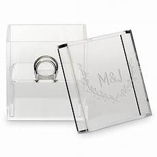 small personalized clear acrylic ring box woodland engraving the knot shop