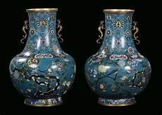 vasi cinesi cloisonne coppia di vasi cloisonn 232 cina dinastia qing periodo