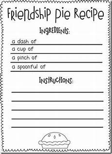 16 best images of printable friendship worksheets elementary pie friendship activity