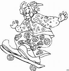 clown malvorlagen gratis clown auf skateboard ausmalbild malvorlage comics