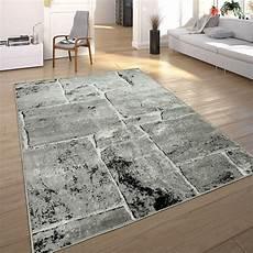 teppiche modern designer teppich modern trendig meliert steinoptik mauer