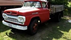 1960 F600 Ford Dump Truck Startup  YouTube