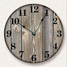 home decor wall clocks weathered boards wall clock rustic cabin country