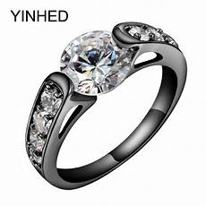 yinhed unique black gold filled wedding band ring 2 carat