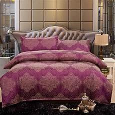 tribute silk bedding smooth touch jacquard bed sheet anti pilling super soft pink comforter