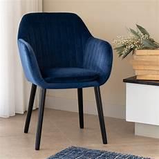 chaise capitonn 233 e en velours bleu figuerolles avec