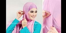 Kreasi Jilbab Segi Empat Warna Pink Tutorial