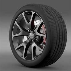 buick regal gs wheel 3d model max obj 3ds fbx c4d