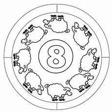 Mandala Malvorlagen Mit Zahlen Kostenlose Malvorlage Mandalas Zahlen Lernen 8 Zum Ausmalen
