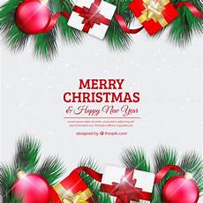merry christmas background with elements free vector