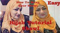 Tutorial Shawl Easy How To Wrap A