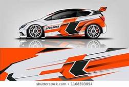 Car Decal Wrap Design Vector Graphic Abstract Stripe