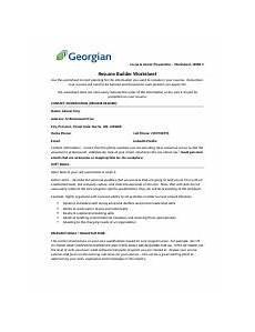 resume builder worksheet form 1 docx co op career preparation worksheet week 5 resume builder
