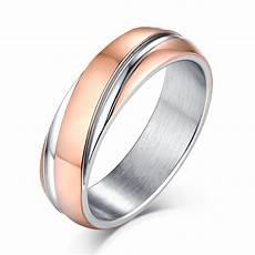rose gold and silver titanium steel men s ring lajerrio