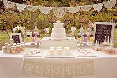 chic dessert table save the date for cupcakes