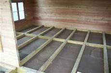 unterkonstruktion fussbodenaufbau gartenhaus