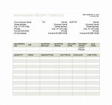 free 8 restaurant receipt templates in free sles